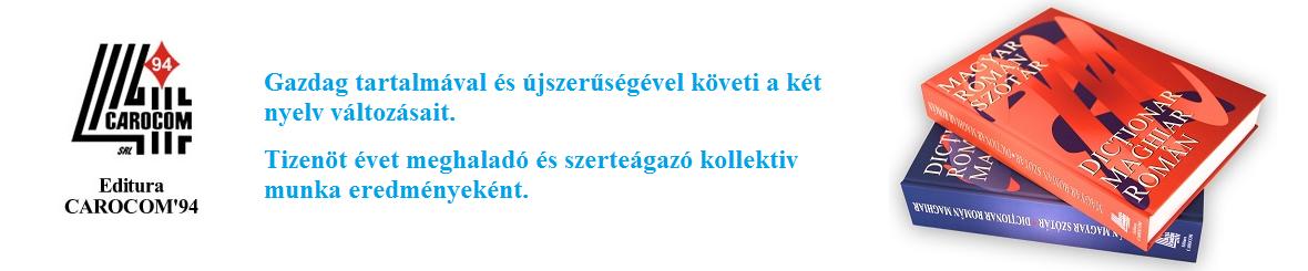 Román-Magyar Szótár, Magyar-Román Szótár
